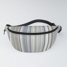 Blue grey Tan Stripes Fanny Pack