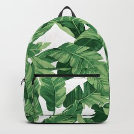 Tropical banana leaves IV Backpack