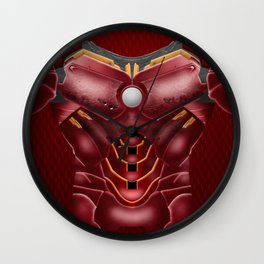 Red Cyborg robot iPhone 4 4s 5 5c 6, pillow case, mugs and tshirt Wall Clock