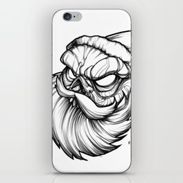 Santa Skully iPhone Skin
