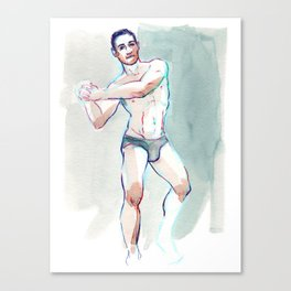 JAY, Semi-Nude Male by Frank-Joseph Canvas Print