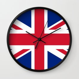 Union Jack, Authentic color and scale 1:2 Wall Clock