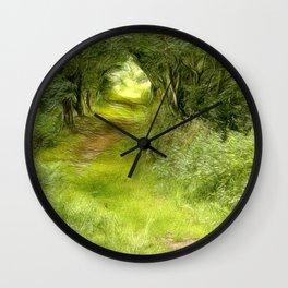 Shaman's Path Wall Clock