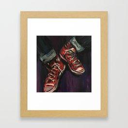 Red Converse Framed Art Print