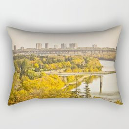 Fall in the city Rectangular Pillow
