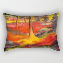Vibrant Forest Rectangular Pillow