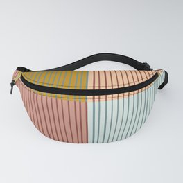 Stripes and Squares Geometric Fanny Pack
