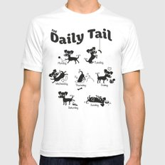 The Daily Tail Dog Mens Fitted Tee SMALL White
