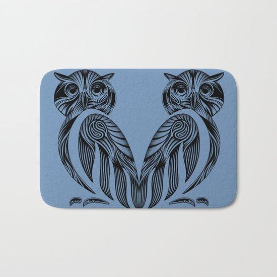 Tribal Owl Bath Mat