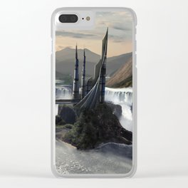 Waterfall Towers Clear iPhone Case