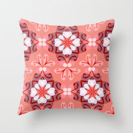 Abstract flower 7 Throw Pillow
