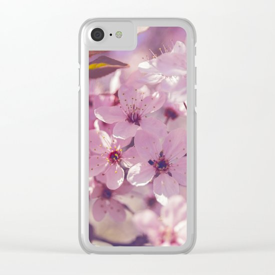 Sakura photography, pink blossoms Clear iPhone Case