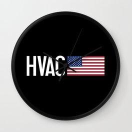 HVAC: HVAC & American Flag Wall Clock