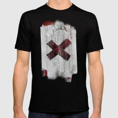 Cross my heart and hope .... Mens Fitted Tee Black SMALL