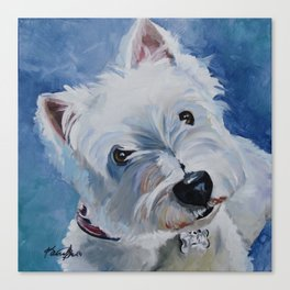Westie Named Tavin Canvas Print