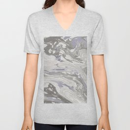Grey Marble #society6 #decor #buyart Unisex V-Neck