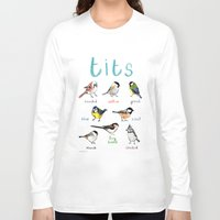 tits Long Sleeve T-shirts featuring Tits Illustration by Sarah Edmonds Illustration