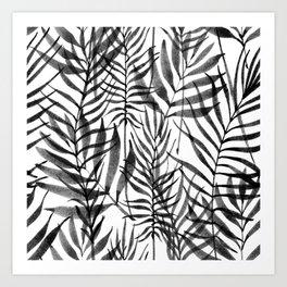 Black Tropics Art Print