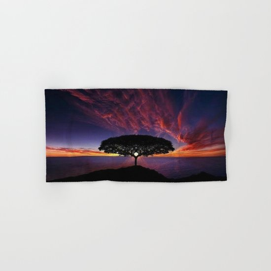 purple clouds Hand & Bath Towel