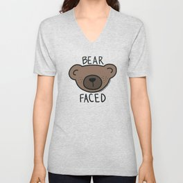 Bear Faced Unisex V-Neck