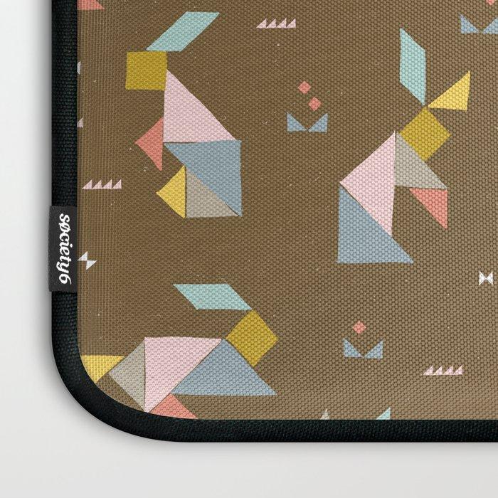 Tangram Bunnies M+M Nutmeg by Friztin Laptop Sleeve