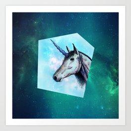 Unicorns only have fun Art Print