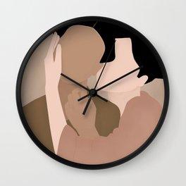 Caress of a geisha. Wall Clock