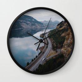 Columbia River Gorge III Wall Clock