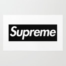 Supreme Black Box Logo Rug