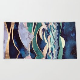 Moonlit Ocean Beach Towel