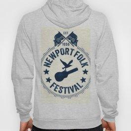 1959 Newport Folk Festival Emblem Poster Hoody