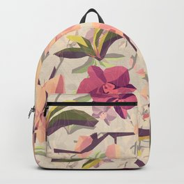 Orchid Pattern Backpack