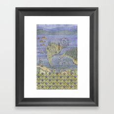 The North Summer. White Sea. Framed Art Print