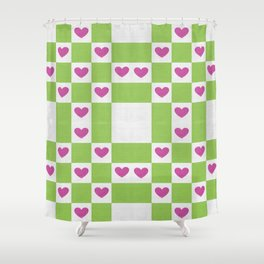 VALENTINES FABRIC PATTERN Shower Curtain