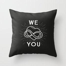 Holly polyamory Throw Pillow
