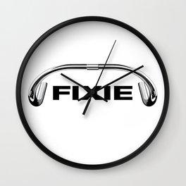 Classic Track Handlebars - Black Text Wall Clock