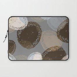 Seed Pods Neutral Color Graphic Pattern Laptop Sleeve