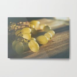 Food. Fruit. Summer grapes Metal Print