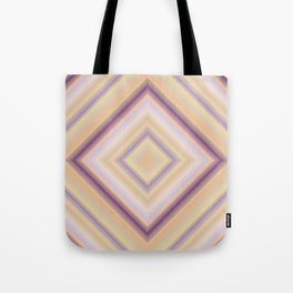 rotated square caro in pastel colors Tote Bag