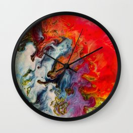 Abstract fire Wall Clock