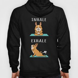Corgi Yoga Inhale Exhale Hoody