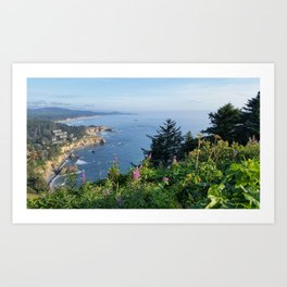 Otter Rock, Oregon from Cape Foulweather Vantage Point Art Print