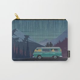 Retro Camping under the stars Carry-All Pouch
