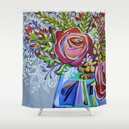 Graphic Floral 1 Shower Curtain