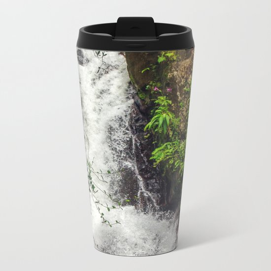 Rainforest Waterfall Metal Travel Mug
