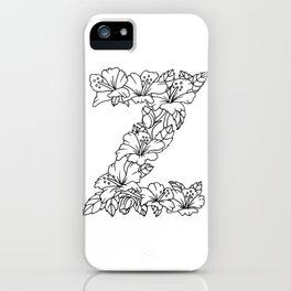 Floral Type - Letter Z iPhone Case