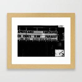 CINE Framed Art Print