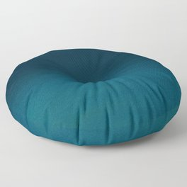 Navy blue teal hand painted watercolor paint ombre Floor Pillow
