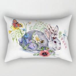 Spring Jackalope Rectangular Pillow