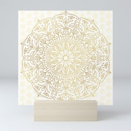 Gold Mandala Mini Art Print